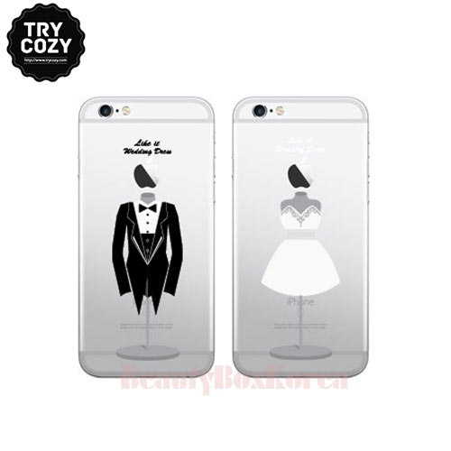 best sneakers 3ecff cad7b TRYCOZY 4Items Clear Wedding Couple Phone Case available now at Beauty Box  Korea