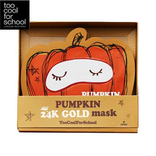 TOO COOL FOR SCHOOL Pumpkin 24k Gold Mask Set(25g x 10ea),TOO COOL FOR SCHOOL
