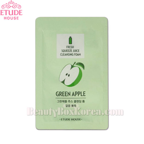 [mini] ETUDE HOUSE Fresh Squeeze Juice Cleansing Foam Green Apple 1ml*10ea,ETUDE HOUSE