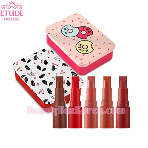 ETUDE HOUSE Mini Two Match 2.4g*3ea + Sliding Tin Case 1ea Set [Nuts & Fruits Collection],ETUDE HOUSE