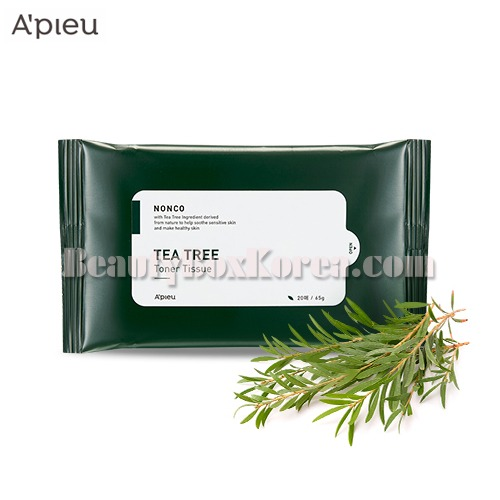 A'PIEU Nonco Tea Tree Toner Tissue 20ea 65g,A'Pieu
