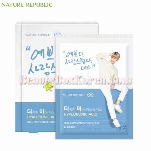 NATURE REPUBLIC Real Comforting Mask Sheet 24g*5ea[EXO Edition],NATURE REPUBLIC