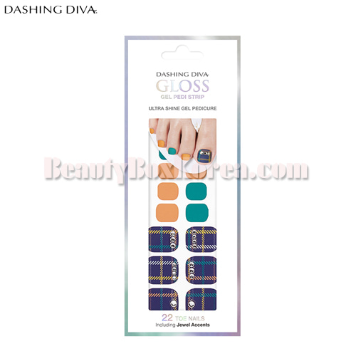 DASHING DIVA Gloss Gel Pedi Strip 1ea[Spring of goddess],DASHING DIVA