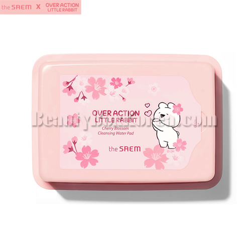 THE SAEM Healing Tea Garden Cherry Blossom Cleansing Water Pad 25ea[Over Action Little Rabbit Cherry Blossom],THE SAEM