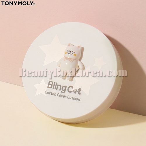 TONYMOLY Bling Cat Cotton Cover Cushion SPF50+ PA+++ 15g [Online Excl.],TONYMOLY
