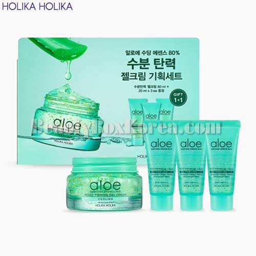 HOLIKA HOLIKA Aloe Soothing Essence 80% Moist Firming Gel Cream Special Set 4items,HOLIKAHOLIKA