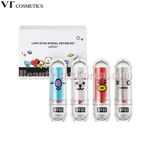 VT BT21 Lippy Stick Special Edition Set 4items