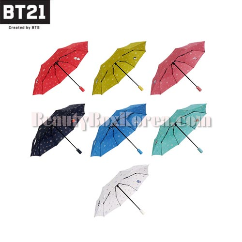 BT21 Safety Automatic Folding Umbrella Dolce 1ea [BT21 x MONOPOLY]