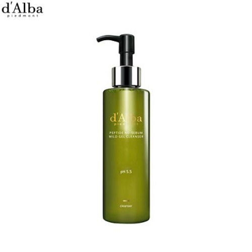 D'ALBA Peptide No Sebum Mild Gel Cleanser 150ml,Beauty Box Korea
