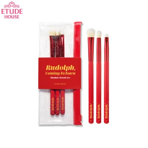 ETUDE HOUSE Rudolph, Coming To Town Shadow Brush Set 3items [2019 Holiday Collection]