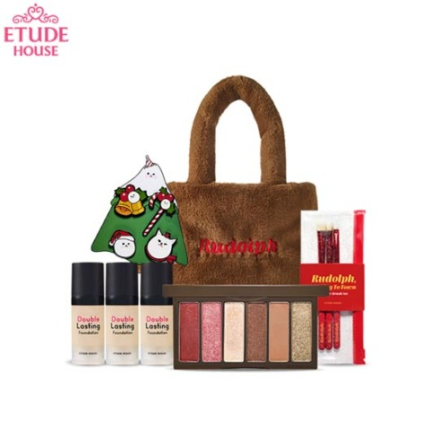 ETUDE HOUSE Rudolph Eyes #1 The Red-nosed Reindeer Set 9items [2019 Holiday Collection][Online Excl.]