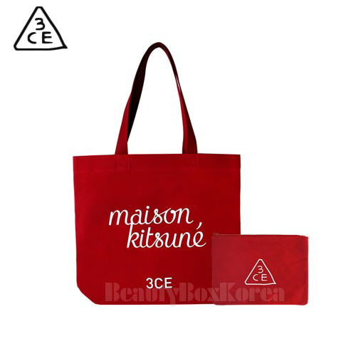 new authentic picked up discount shop 3CE Maison Kitsune Tote Bag 1ea available now at Beauty Box Korea