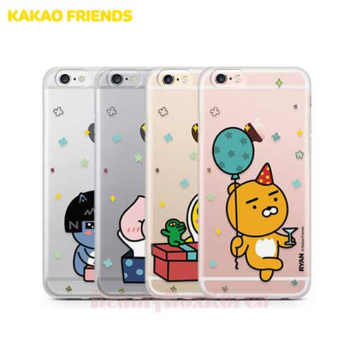KAKAO FRIENDS 8Kinds Hologram Gift Jelly Phone Case available now at Beauty  Box Korea
