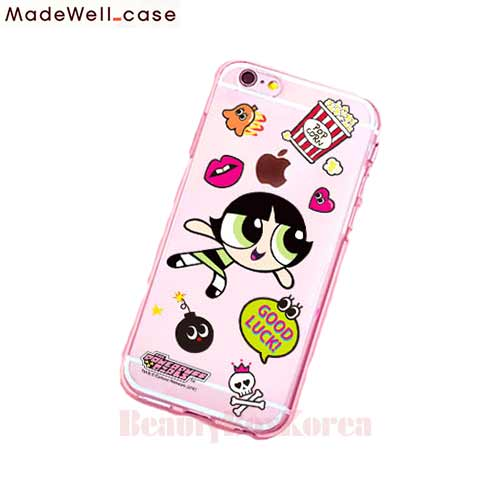 MADEWELL-CASE Power Puff Girls Clear Jelly Sticker Buttercup,MADEWELL-CASE