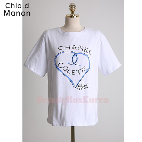 b1a9ef2724d5e2 Beauty Box Korea - CHOL.D MANON Chanel Heart Logo T-Shirt 1ea | Best Price  and Fast Shipping from Beauty Box Korea
