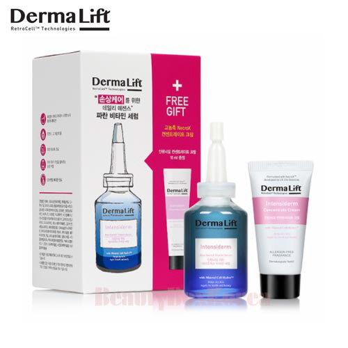 DERMALIFT Intensiderm Blue NecroX Vitamin Serum Set 2items, DERMALIFT