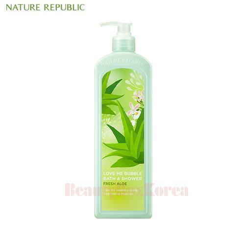 NATURE REPUBLIC Love Me Bubble Shower Gel Fresh Aloe 1000ml available now  at Beauty Box Korea