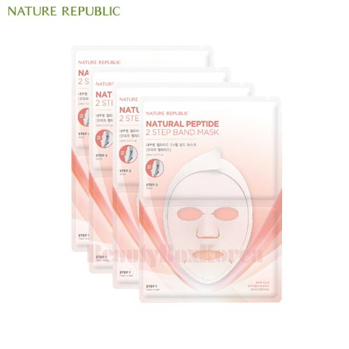 NATURE REPUBLIC Natural Peptide 2 Step Band Mask 23ml*5ea,NATURE REPUBLIC