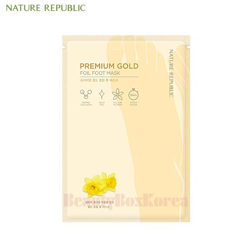 NATURE REPUBLIC Premium Gold Foil Foot Mask 16ml,NATURE REPUBLIC
