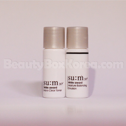 [mini]SU:M37 White Award Micro Clear Toner 6ml & White Award Moisture Balancing Emulsion 6ml Set,Su:m37