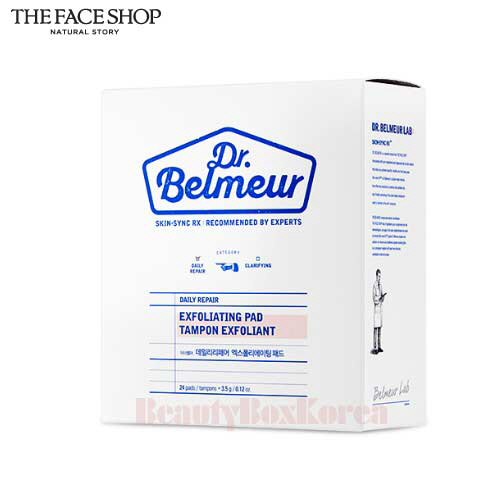 THE FACE SHOP Dr. Belmeur Daily Repair Exfoliating Pad 3.5g*24patches,THE FACE SHOP