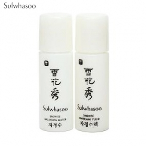 [mini] SULWHASOO Snowise EX Brightening Water 5ml + Whitening Fluid 5 ml Set,SULWHASOO