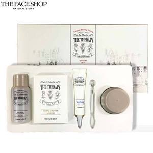 [mini] The face shop The Therapy Special Kit 3items + Green Tea Cotton Pads 5ea,THE FACE SHOP