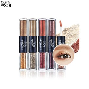 TOUCH IN SOL Metallist Liquid Foil & Glitter Eye Shadow Duo 2.21ml+2g,TOUCH IN SOL