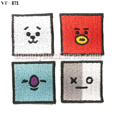 VT X BT21 Art in Wappen Set 4items,VT