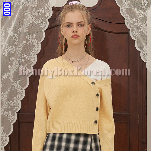 ODD ONE OUT Two Way Knit Cardigan Yellow 1ea,Other Brand