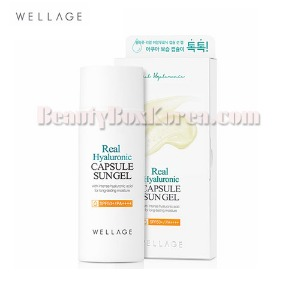 WELLAGE Real Hyaluronic capsule sun gel SPF50+/PA++++ 60ml,WELLAGE