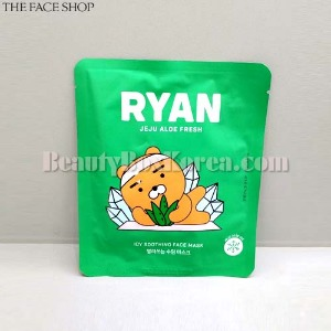 THE FACE SHOP Ryan Jeju Aloe Fresh Icy Soothing Face Mask 22g [THE FACE SHOP X KAKAO FRIENDS]