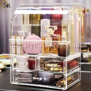 SUNGRIM ACRYLIC All In One Makeup Organizer with Cover 1ea