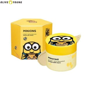 OLIVE YOUNG MINIONS Honey With Banana Wash Off Pack 100g