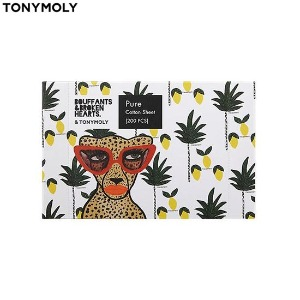 TONYMOLY Pure Cotton Sheet 200pcs [TONYMOLY X BOUFFANTS & BROKEN HEARTS]