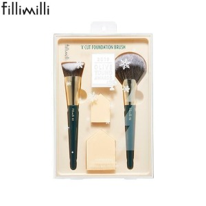 FILLIMILLI V Cut Foundation Brush Special Set 4items [2019 OLIVE YOUNG Awards]