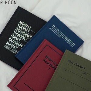 RIHOON 2020 Real Holiday Diary 1ea