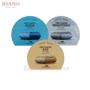 BANOBAGI Vita Cocktail Foil Mask 30ml*10ea,Own label brand