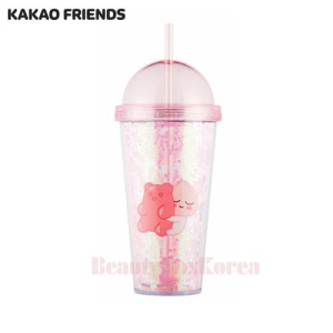 KAKAO FRIENDS Apeach Straw Tumbler 1ea (Light pink),KAKAO FRIENDS