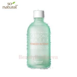 SO NATURAL Pore Tensing Carbonic Water Powder Toner 135ml,SO NATURAL