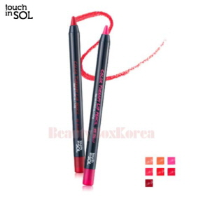 TOUCH IN SOL Color Therapy Lip Pencil Set 1.2g*7ea,TOUCH IN SOL