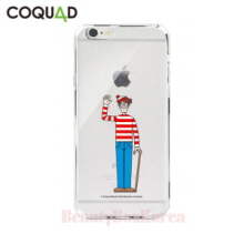 COQUAD Where's Wally Clear Phone Case Wally With a Cane,COQUAD