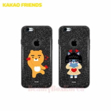KAKAO FRIENDS 8 Items Black Glitter Jelly Phone Case,KAKAO FRIENDS