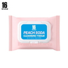 16 BRAND Peach Soda Cleansing Tissue 195g (40wipes),16 Brand