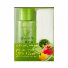 NATURE REPUBLIC Fresh Vegetable Wash Free Cleansing Water 300ml+ 40 cotton pads,NATURE REPUBLIC