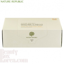 NATURE REPUBLIC Nature Deco Natural Mild Cotton Wipe 100% 80ea,NATURE REPUBLIC