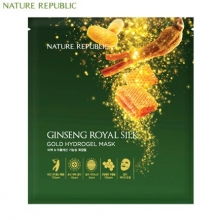 NATURE REPUBLIC Ginseng Royal Silk Gold Hydrogel Mask 32g*5ea,NATURE REPUBLIC