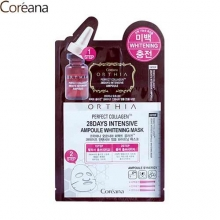 COREANA Orthia Perfect Collagen 28days Intensive Ampoule Whitening Mask 25ml,COREANA