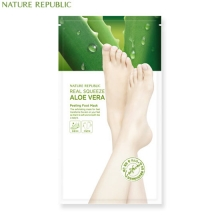 NATURE REPUBLIC REAL SQUEEZE ALOE VERA Peeling foot mask 25g*2,NATURE REPUBLIC