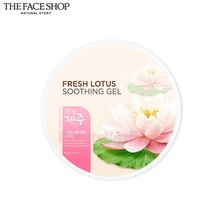 THE FACE SHOP Fresh Lotus Soothing Gel 285ml,THE FACE SHOP
